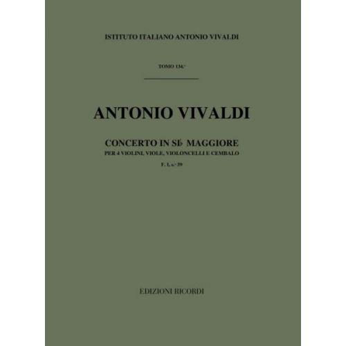 RICORDI VIVALDI A. - IN SI BEM. RV 553 - VIOLONS
