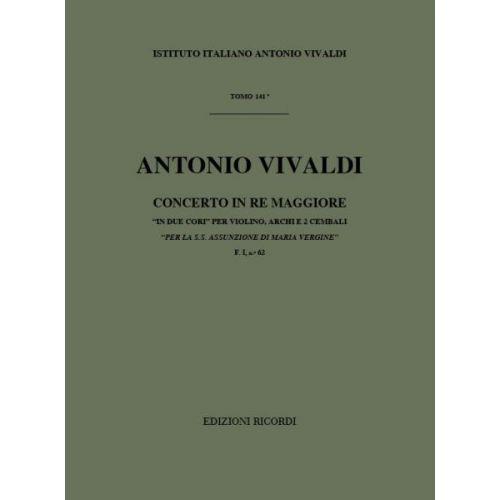 RICORDI VIVALDI A. - CONCERTI IN RE RV 582 - VIOLONS ET CORDES