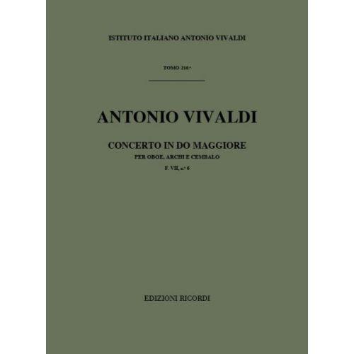 RICORDI VIVALDI A. - CONCERTI IN DO RV 447 - HAUTBOIS, CORDES ET BASSE CONTINUE