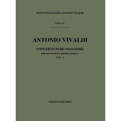 RICORDI VIVALDI A. - CONCERTI IN DO RV 398 - VIOLONCELLE, CORDES ET BASSE CONTINUE