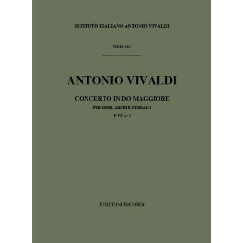 RICORDI VIVALDI A. - CONCERTO IN DO MAGGIORE - HAUTBOIS ET CORDES - CONDUCTEUR