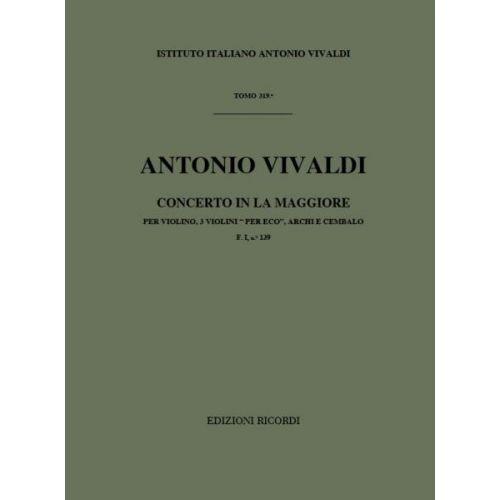 RICORDI VIVALDI A. - CONCIN LA PER ECO RV 552 - 3 VIOLINS