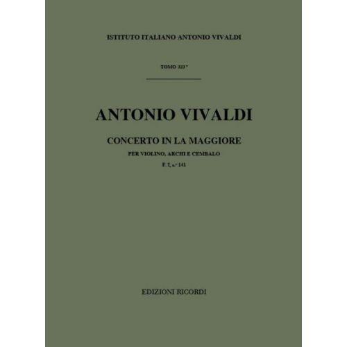 RICORDI VIVALDI A. - CONCERTI IN LA RV 340 - VIOLON
