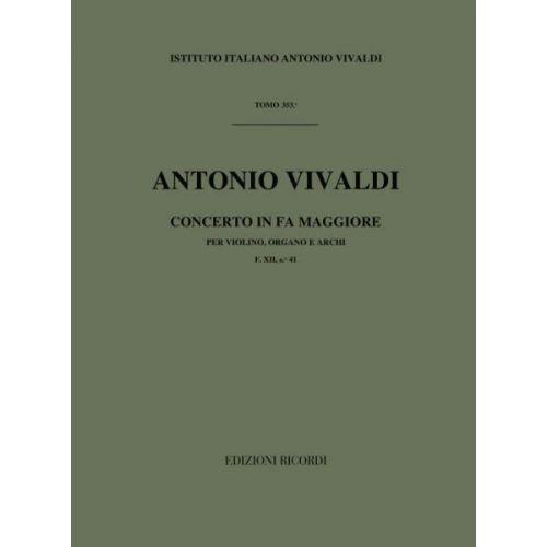 RICORDI VIVALDI A. - CONCERTI IN FA RV 542 - VIOLON