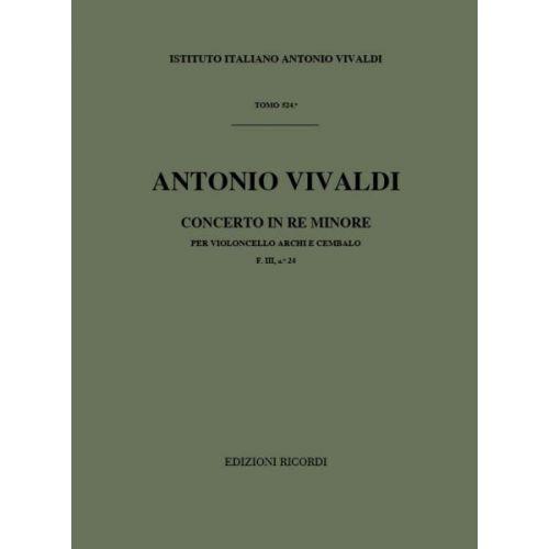 RICORDI VIVALDI A. - CONCERTI IN RE MIN. RV 405 - VIOLONCELLE, CORDES ET BASSE CONTINUE