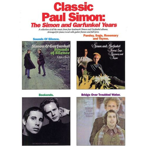 MUSIC SALES THE SIMON AND GARFUNKEL YEARS - PVG