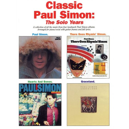 MUSIC SALES CLASSIC PAUL SIMON THE SOLO YEARS - PVG