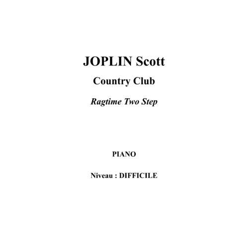 IPE MUSIC JOPLIN SCOTT - COUNTRY CLUB - PIANO