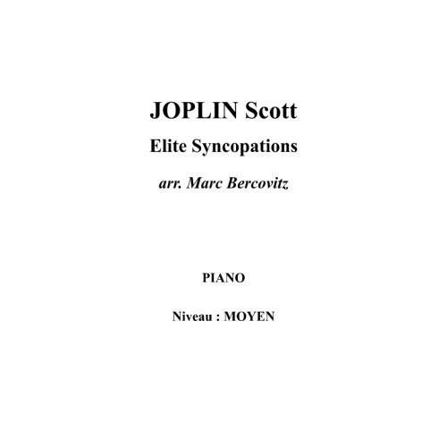 IPE MUSIC JOPLIN SCOTT - ELITE SYNCOPATIONS - PIANO