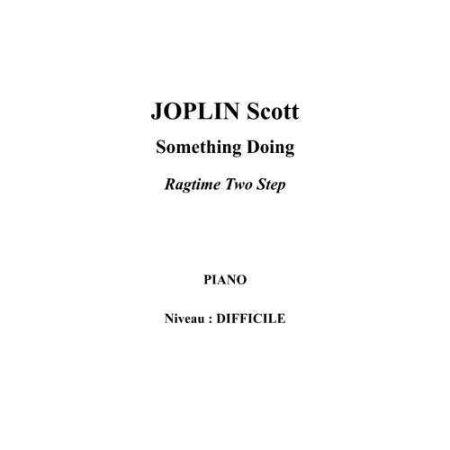 IPE MUSIC JOPLIN SCOTT - SOMETHING DOING - PIANO