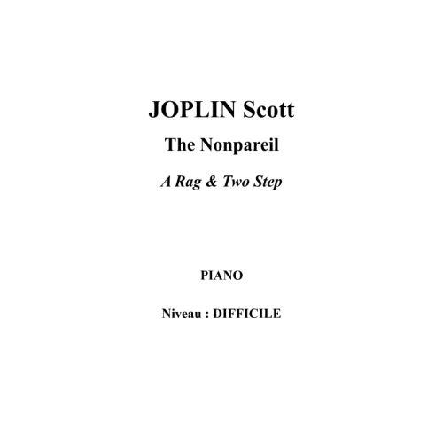 IPE MUSIC JOPLIN SCOTT - THE NONPAREIL - PIANO