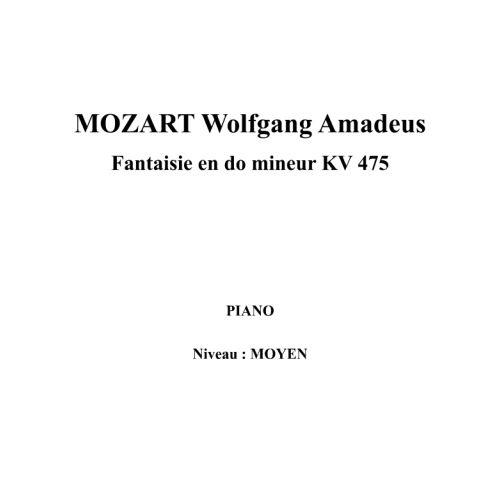 IPE MUSIC MOZART W. A. - FANTASIA IN C MINOR KV 475 - PIANO