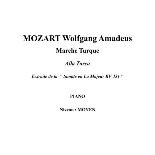 IPE MUSIC MOZART W. A. - RONDO ALLA TURCA FROM