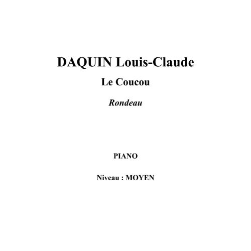 IPE MUSIC DAQUIN LOUIS-CLAUDE - THE CUCKOO RONDO - PIANO
