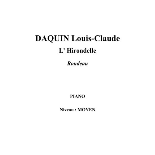 IPE MUSIC DAQUIN LOUIS-CLAUDE - THE SWALLOW RONDO - PIANO