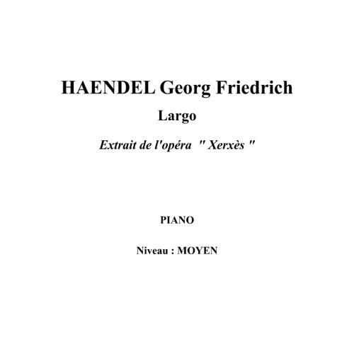 IPE MUSIC HAENDEL GEORGE FREDERIC - LARGO FROM