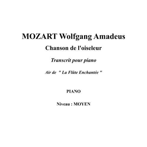 IPE MUSIC MOZART W. A. - DER VOGELFÄNGER BIN ICH JA ARRANGED FOR PIANO - PIANO