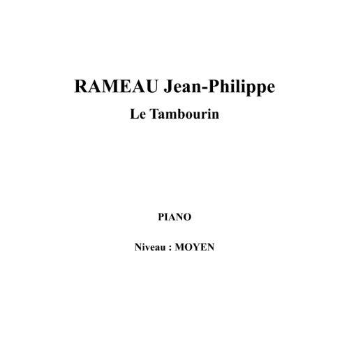 IPE MUSIC RAMEAU JEAN - PHILIPPE - LE TAMBOURIN - PIANO