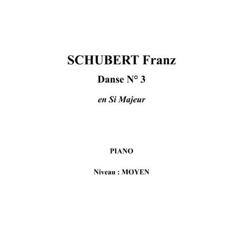 IPE MUSIC SCHUBERT FRANZ - DANCE N° 3 IN B MAJOR - PIANO