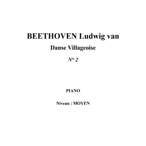 IPE MUSIC BEETHOVEN LUDWIG VAN - DANSE VILLAGEOISE N° 2 - PIANO