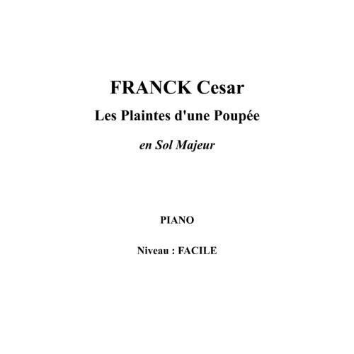 IPE MUSIC FRANCK CESAR - LES PLAINTES D'UNE POUPEE EN SOL MAJEUR - PIANO