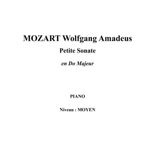 IPE MUSIC MOZART W. A. - PETITE SONATE EN DO MAJEUR - PIANO