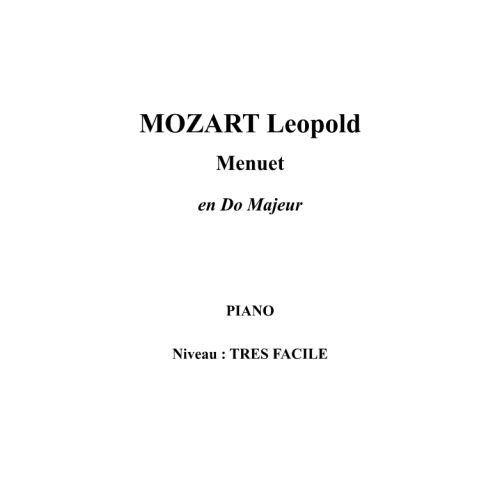IPE MUSIC MOZART LEOPOLD - MINUET IN C MAJOR - PIANO