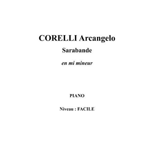 IPE MUSIC CORELLI ARCANGELO - SARABANDE IN E MINOR - PIANO