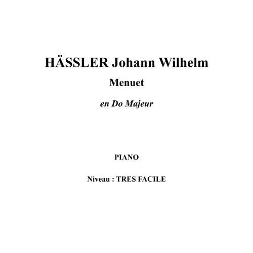 IPE MUSIC HAESSLER JOHANN WILHELM - MENUET EN DO MAJEUR - PIANO