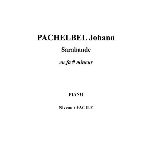IPE MUSIC PACHELBEL JOHANN - SARABANDE - PIANO