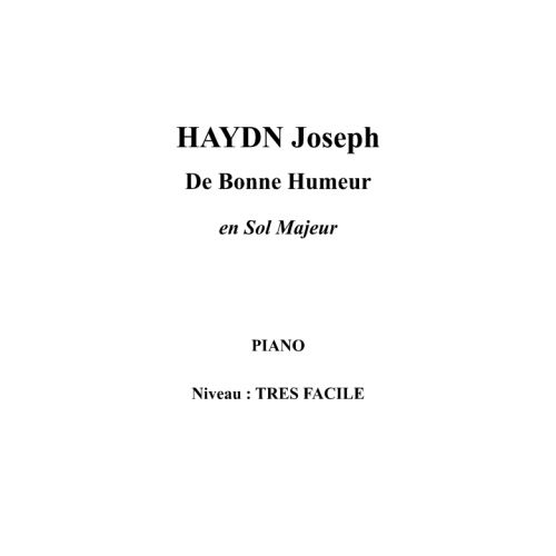 IPE MUSIC HAYDN JOSEPH - IN A MERRY MOOD IN G MAJOR - PIANO