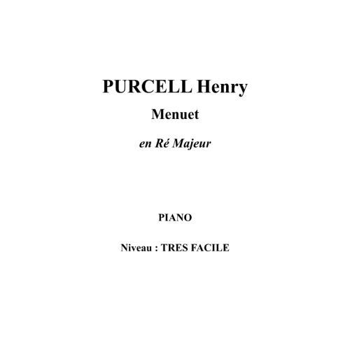 IPE MUSIC PURCELL HENRY - MINUET IN D MAJOR - PIANO