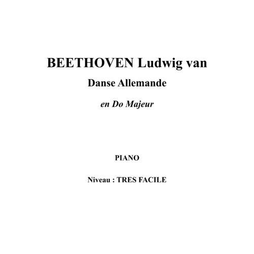 IPE MUSIC BEETHOVEN LUDWIG VAN - GERMAN DANCE IN C MAJOR - PIANO