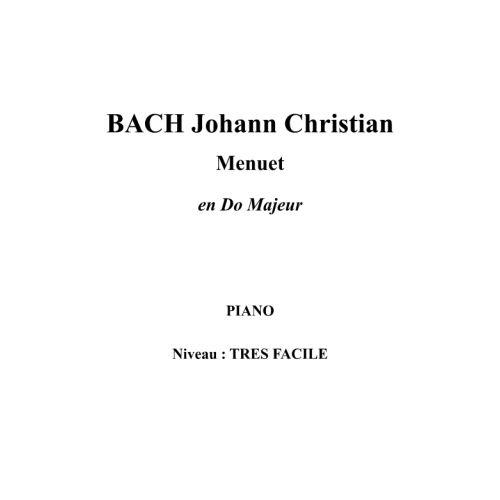 IPE MUSIC BACH J.C. - MINUET IN C MAJOR - PIANO