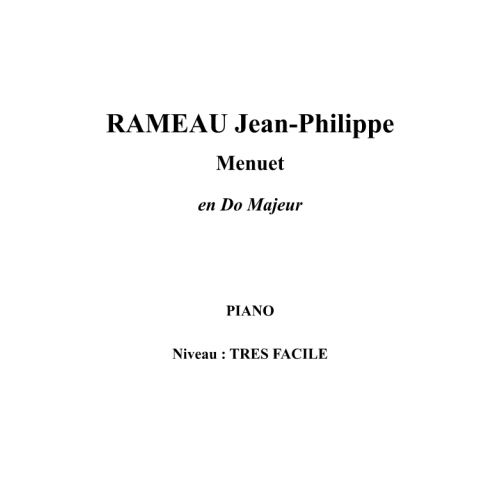 IPE MUSIC RAMEAU JEAN - PHILIPPE - MINUET IN C MAJOR - PIANO