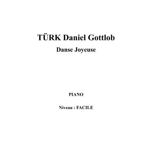 IPE MUSIC TURK DANIEL GOTTLOB - DANSE JOYEUSE - PIANO