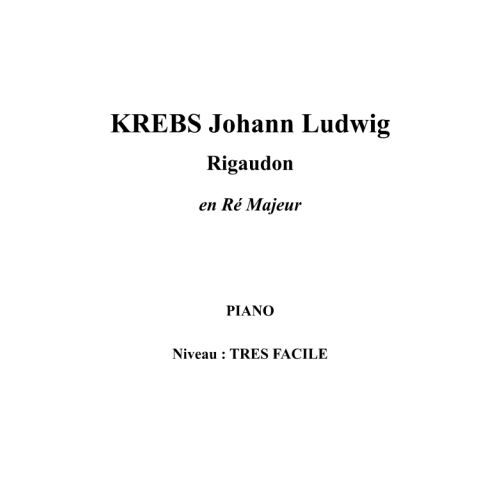 IPE MUSIC KREBS JOHANN LUDWIG - RIGAUDON IN D MAJOR - PIANO