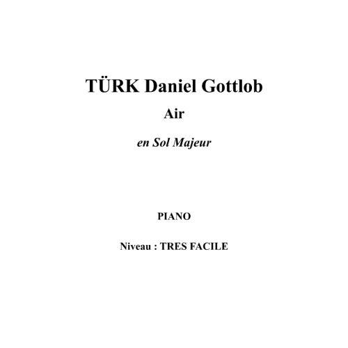 IPE MUSIC TURK DANIEL GOTTLOB - AIR EN SOL MAJEUR - PIANO