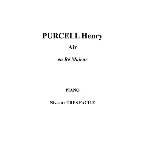 IPE MUSIC PURCELL HENRY - AIR EN RE MAJEUR - PIANO