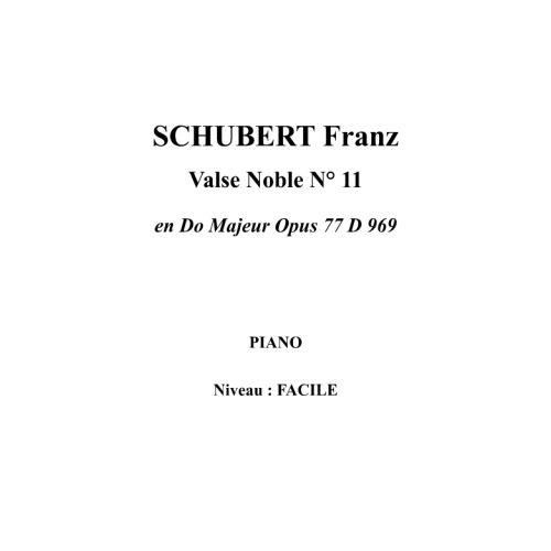 IPE MUSIC SCHUBERT FRANZ - VALSE NOBLE N° 11 EN DO MAYOR OPUS 77 D 969 - PIANO