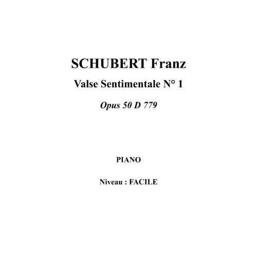 IPE MUSIC SCHUBERT FRANZ - VALSE SENTIMENTALE N° 1 OPUS 50 D 779 - PIANO