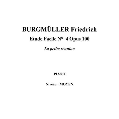 IPE MUSIC BURGMULLER FRIEDRICH - EASY STUDY N° 4 OPUS 100 CHILDREN'S PARTY - PIANO