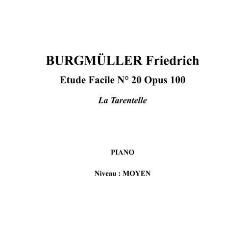 IPE MUSIC BURGMULLER FRIEDRICH - ESTUDIO FACIL N° 20 OPUS 100 TARANTELA - PIANO
