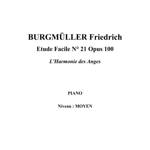 IPE MUSIC BURGMULLER FRIEDRICH - ESTUDIO FACIL N° 21 OPUS 100 ARMONIA DE LOS ANGELES - PIANO