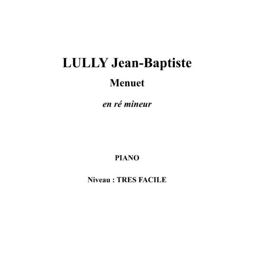 IPE MUSIC LULLY JEAN-BAPTISTE - MINUET IN D MINOR - PIANO