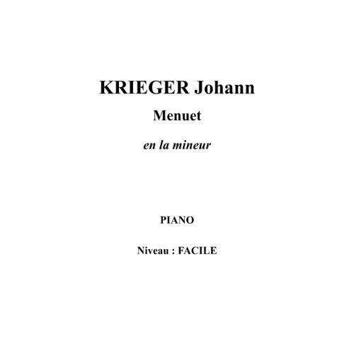 IPE MUSIC KRIEGER JOHANN - MINUET IN A MINOR - PIANO