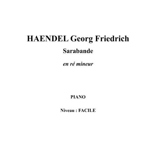 IPE MUSIC HAENDEL GEORGE FREDERIC - SARABANDE IN D MINOR - PIANO