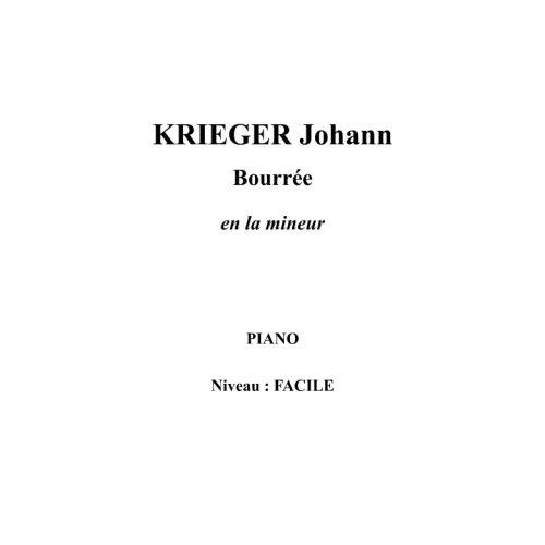 IPE MUSIC KRIEGER JOHANN - BOURREE EN LA MINEUR - PIANO