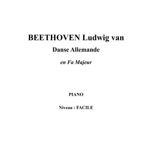 IPE MUSIC BEETHOVEN LUDWIG VAN - GERMAN DANCE IN F MAJOR - PIANO