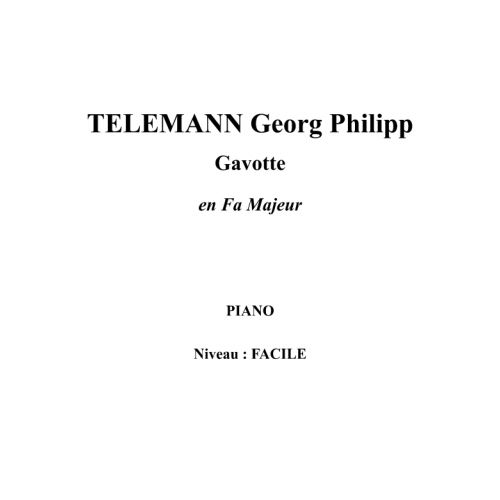 IPE MUSIC TELEMANN GEORG PHILIPP - GAVOTTE IN F MAJOR - PIANO